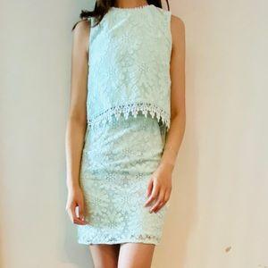 Topshop Dress - Light Green Business Casual